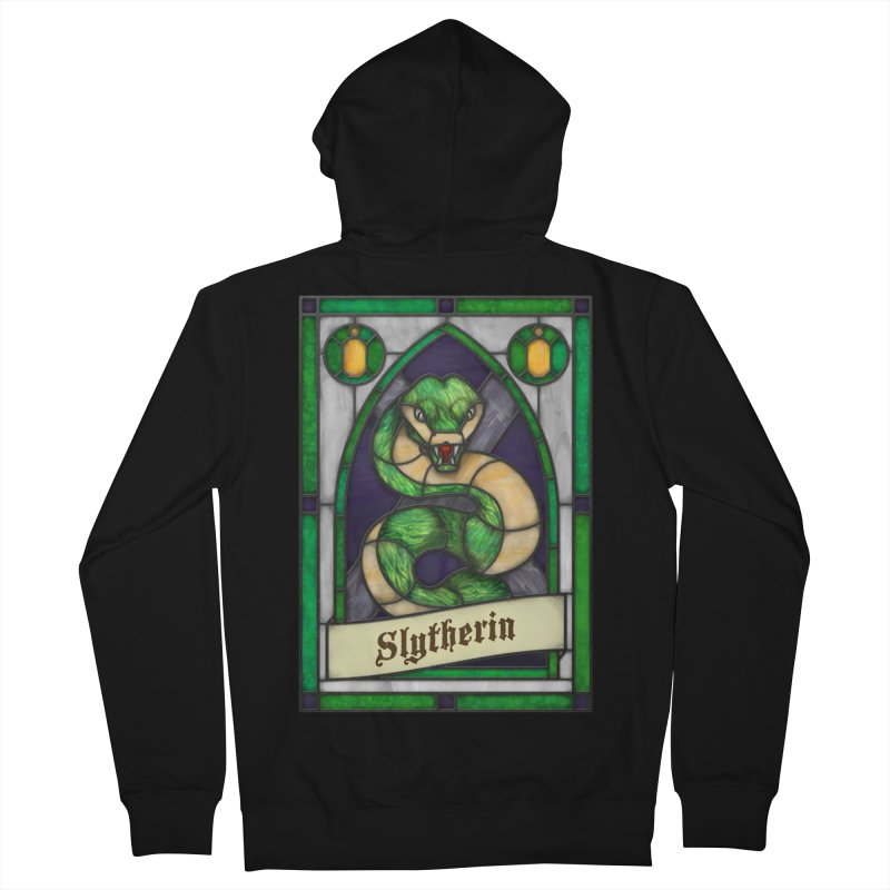 Stained Glass Series - Slytherin Men's Zip-Up Hoody by Ian Leino @ Threadless