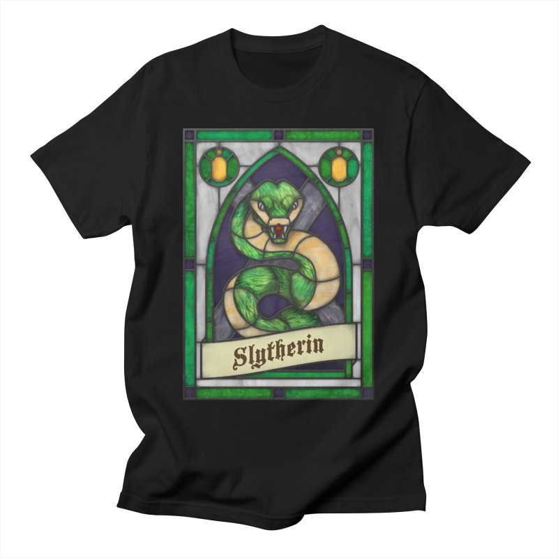 Stained Glass Series - Slytherin Men's T-Shirt by Ian Leino @ Threadless