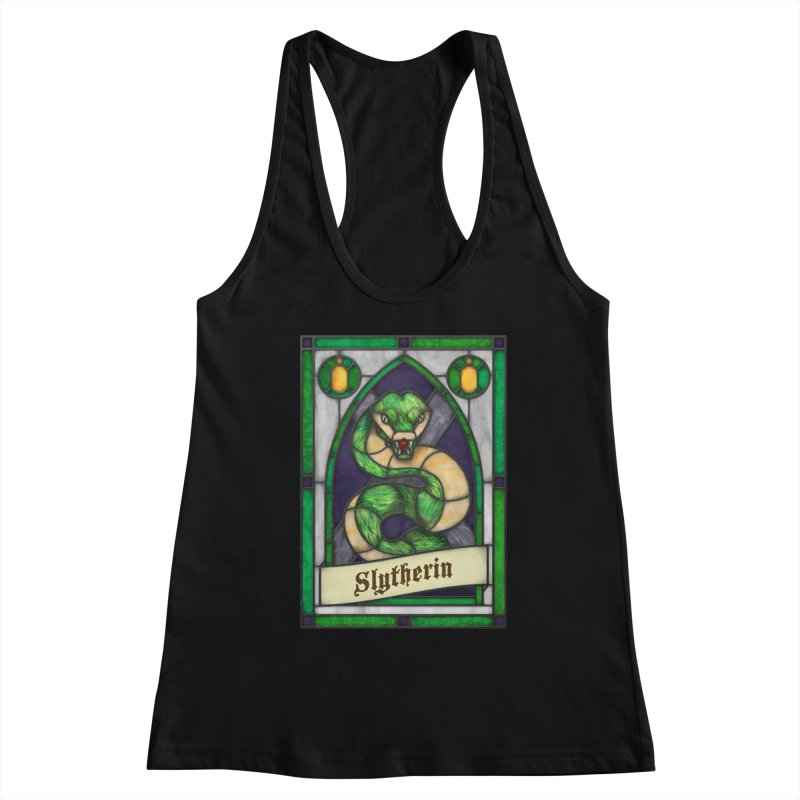 Stained Glass Series - Slytherin Women's Tank by Ian Leino @ Threadless