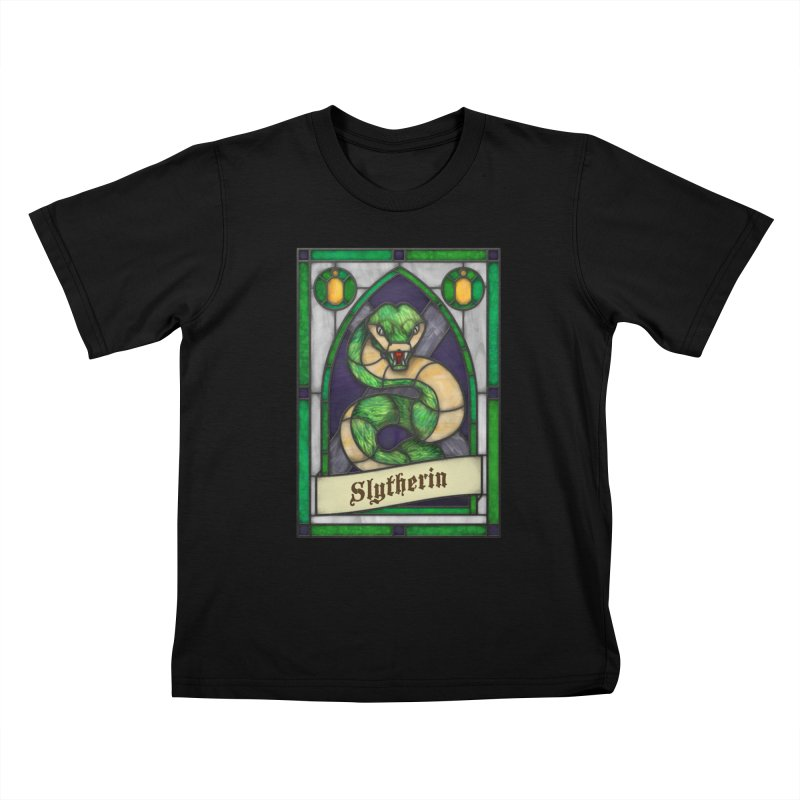 Stained Glass Series - Slytherin Kids T-Shirt by Ian Leino @ Threadless