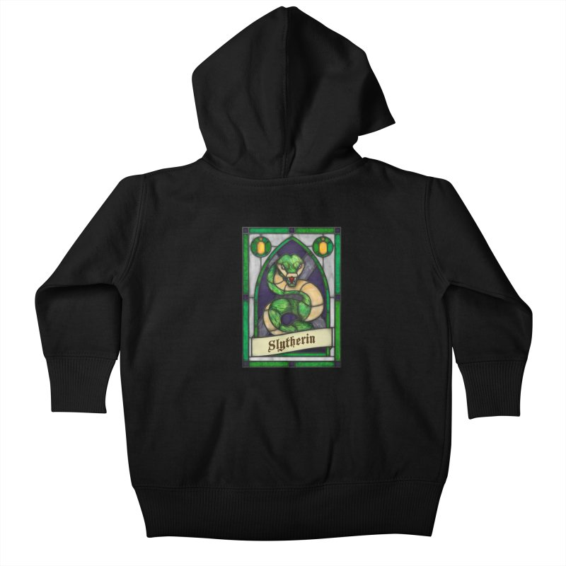 Stained Glass Series - Slytherin Kids Baby Zip-Up Hoody by Ian Leino @ Threadless