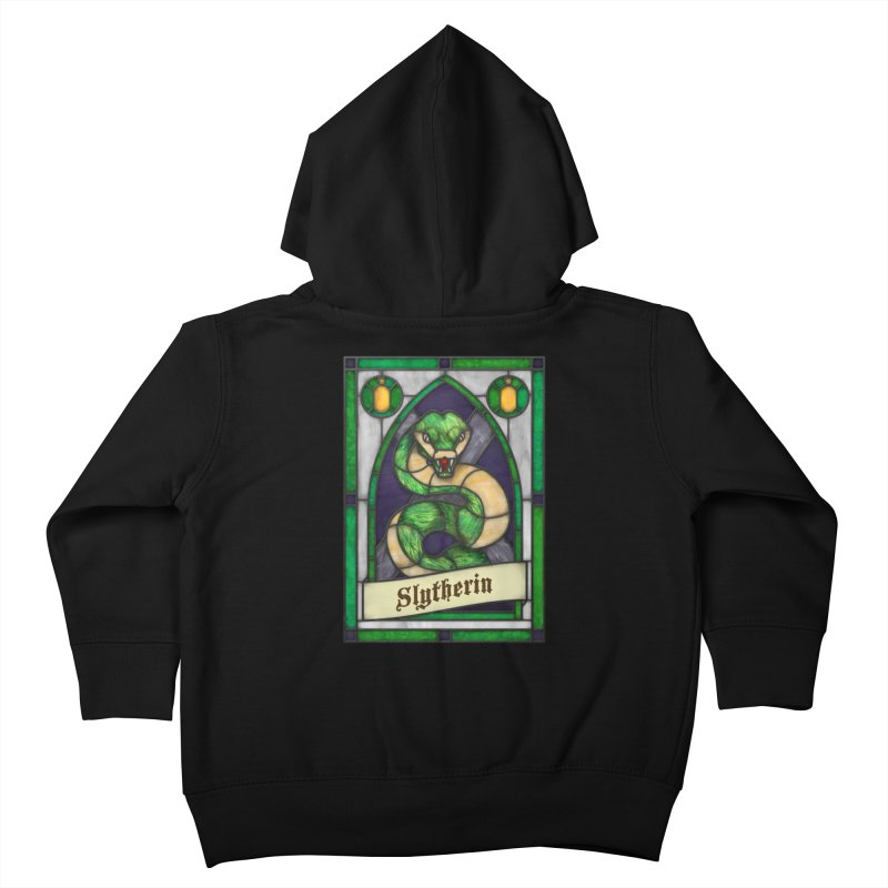 Stained Glass Series - Slytherin Kids Toddler Zip-Up Hoody by Ian Leino @ Threadless