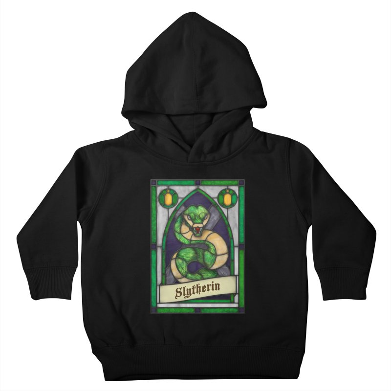 Stained Glass Series - Slytherin Kids Toddler Pullover Hoody by Ian Leino @ Threadless
