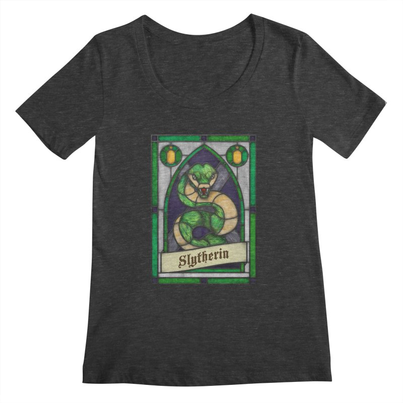 Stained Glass Series - Slytherin Women's Scoopneck by Ian Leino @ Threadless