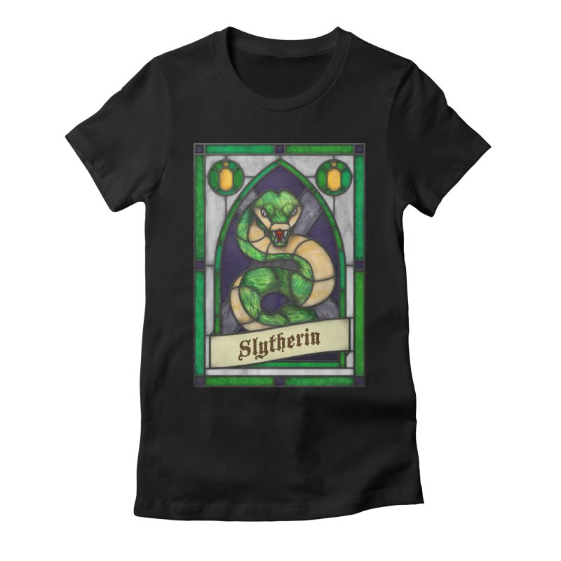 Stained Glass Series - Slytherin Women's T-Shirt by Ian Leino @ Threadless