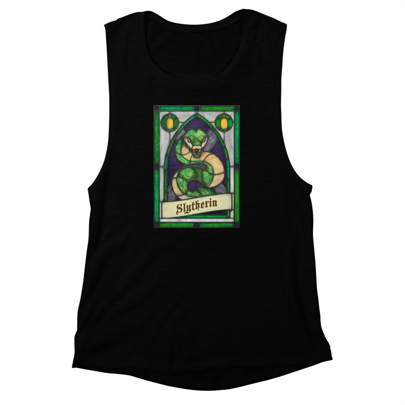 Stained Glass Series - Slytherin Women's Muscle Tank by Ian Leino @ Threadless