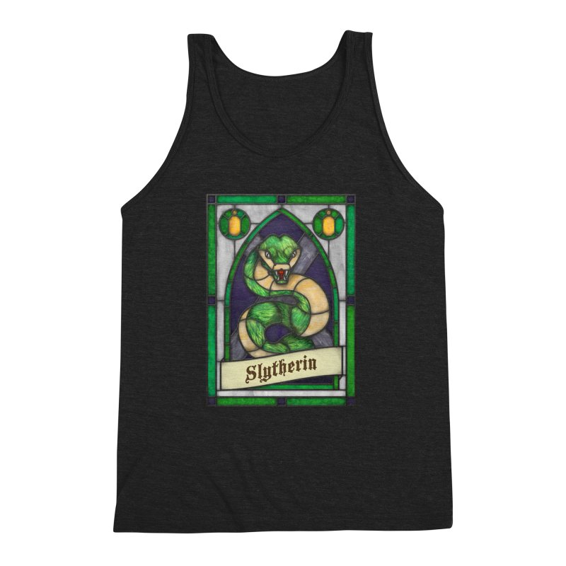Stained Glass Series - Slytherin Men's Triblend Tank by Ian Leino @ Threadless