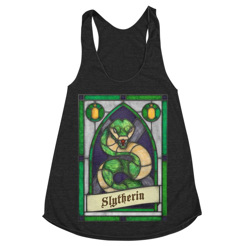 Stained Glass Series - Slytherin Women's Racerback Triblend Tank by Ian Leino @ Threadless