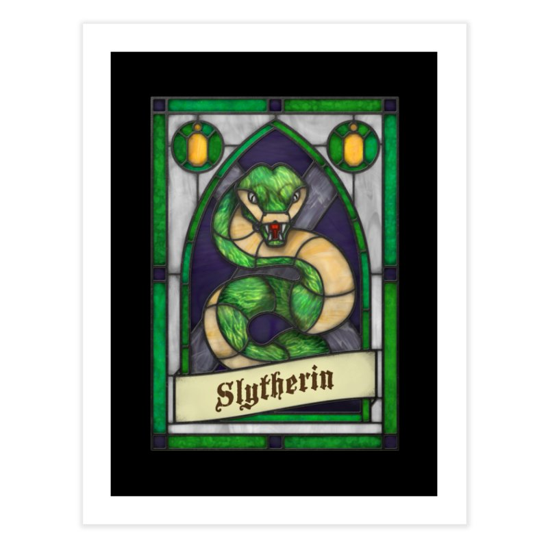 Stained Glass Series - Slytherin Home Throw Pillow by Ian Leino @ Threadless