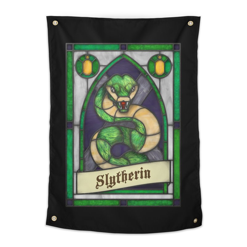 Stained Glass Series - Slytherin Home Tapestry by Ian Leino @ Threadless