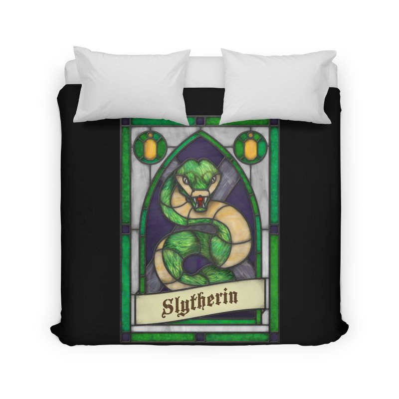 Stained Glass Series - Slytherin Home Duvet by Ian Leino @ Threadless