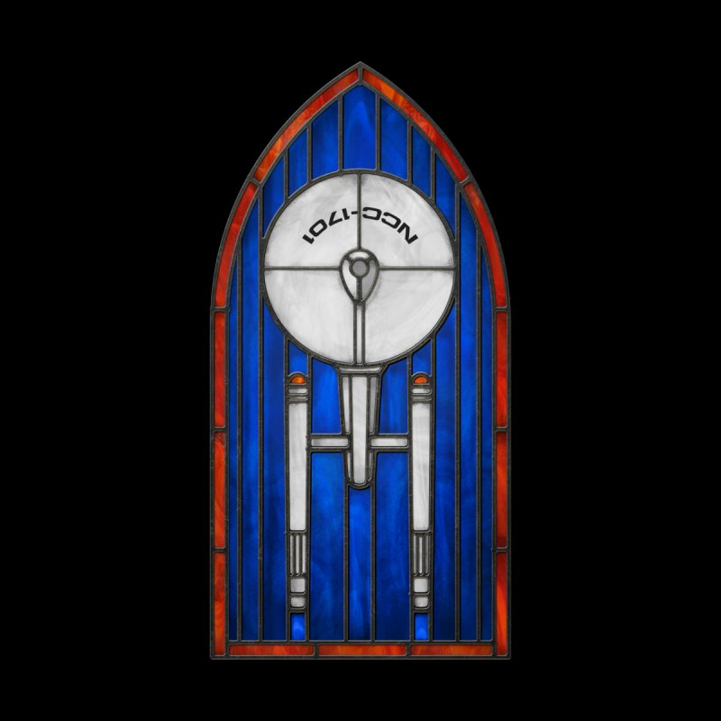 Stained Glass Series - Enterprise by Ian Leino @ Threadless