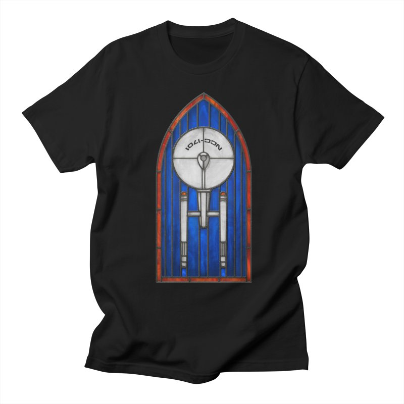 Stained Glass Series - Enterprise Men's T-Shirt by Ian Leino @ Threadless
