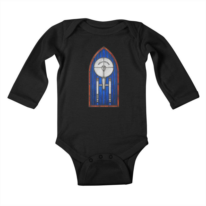 Stained Glass Series - Enterprise Kids Baby Longsleeve Bodysuit by Ian Leino @ Threadless