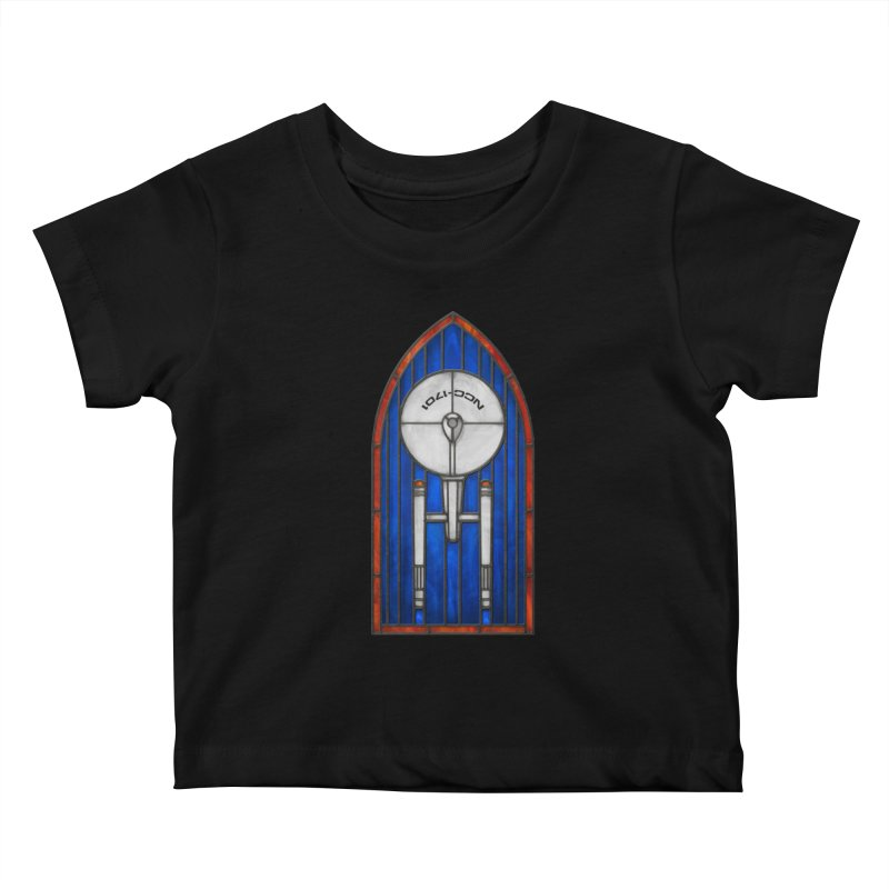 Stained Glass Series - Enterprise Kids Baby T-Shirt by Ian Leino @ Threadless