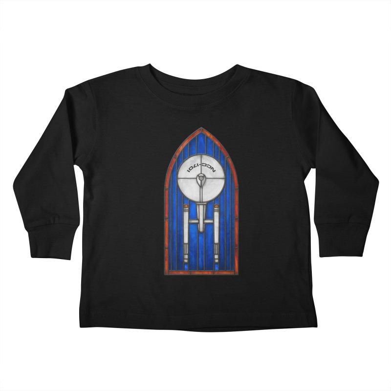 Stained Glass Series - Enterprise Kids Toddler Longsleeve T-Shirt by Ian Leino @ Threadless