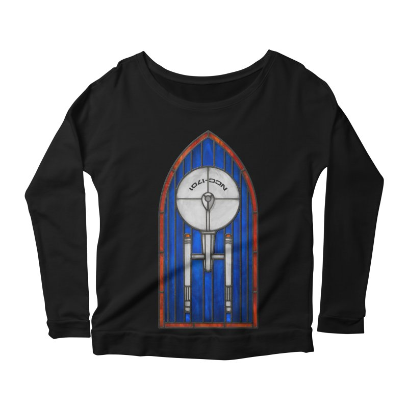 Stained Glass Series - Enterprise Women's Scoop Neck Longsleeve T-Shirt by Ian Leino @ Threadless