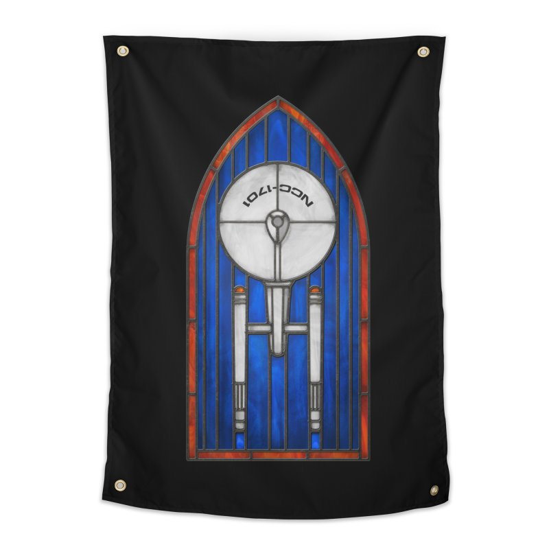 Stained Glass Series - Enterprise Home Tapestry by Ian Leino @ Threadless