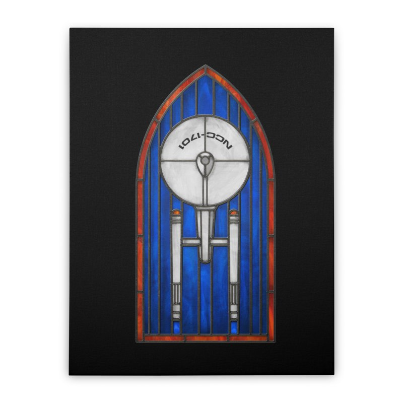 Stained Glass Series - Enterprise Home Stretched Canvas by Ian Leino @ Threadless