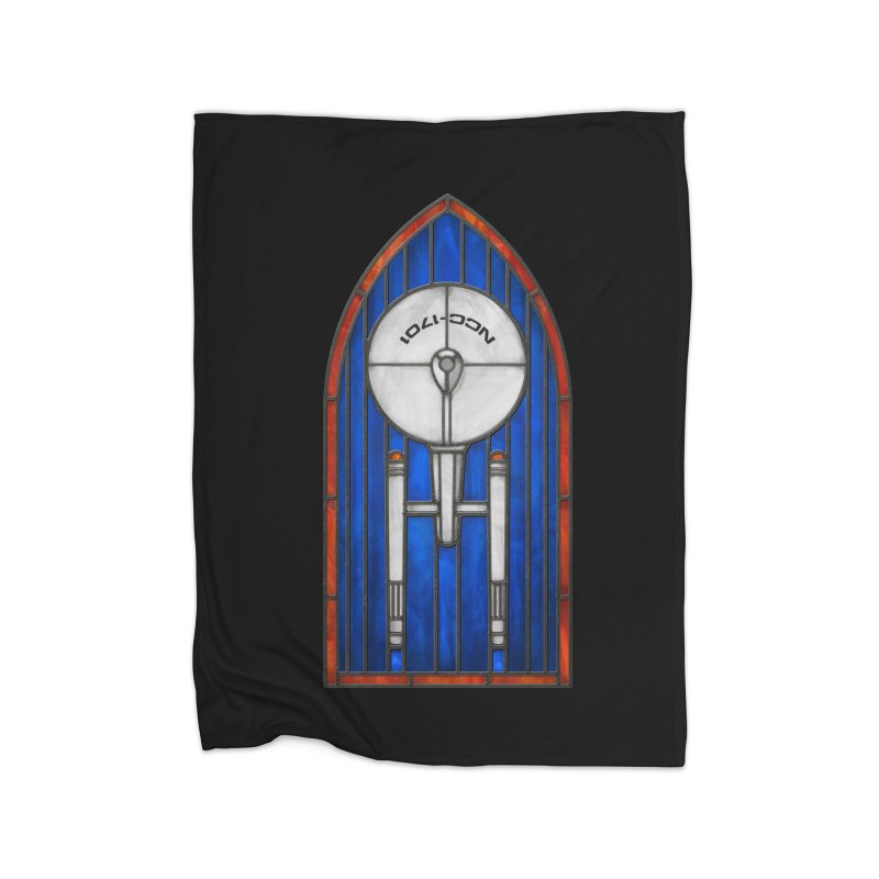 Stained Glass Series - Enterprise Home Blanket by Ian Leino @ Threadless