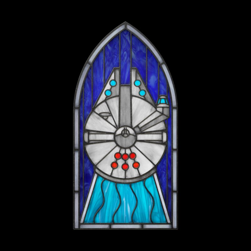 Stained Glass Series - Millennium Falcon by Ian Leino @ Threadless