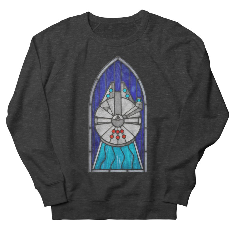 Stained Glass Series - Millennium Falcon Women's Sweatshirt by Ian Leino @ Threadless