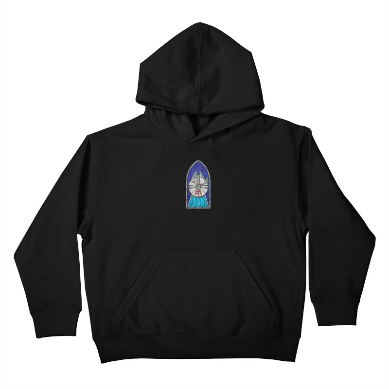 Stained Glass Series - Millennium Falcon Kids Pullover Hoody by Ian Leino @ Threadless