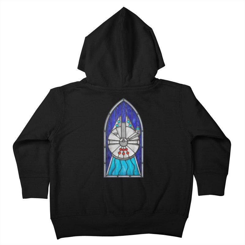 Stained Glass Series - Millennium Falcon Kids Toddler Zip-Up Hoody by Ian Leino @ Threadless
