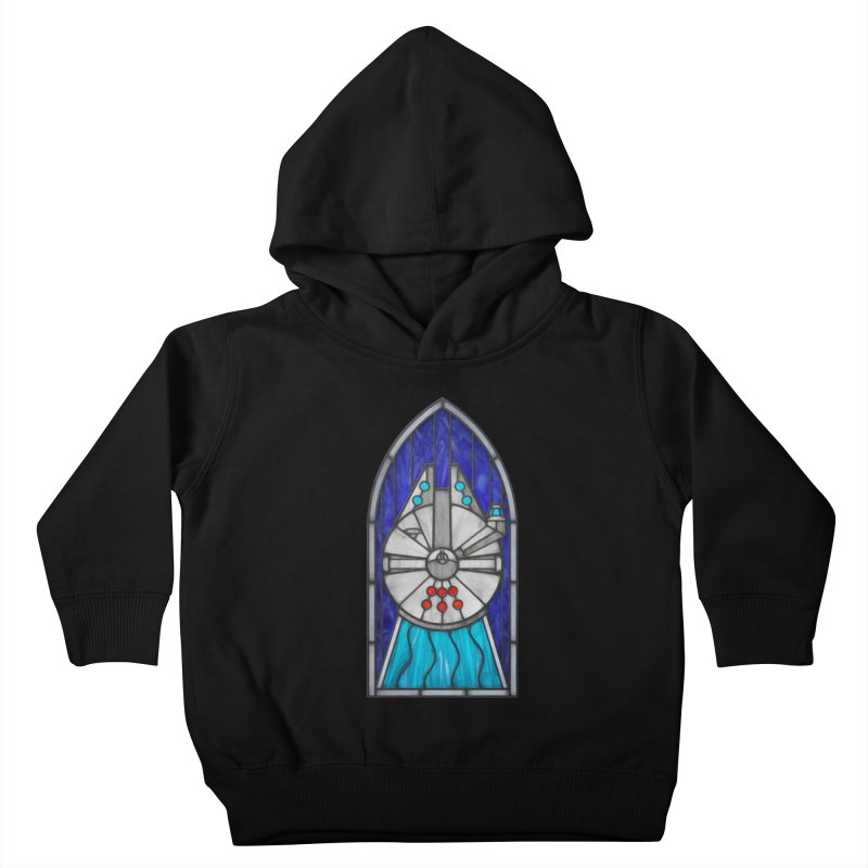 Stained Glass Series - Millennium Falcon Kids Toddler Pullover Hoody by Ian Leino @ Threadless