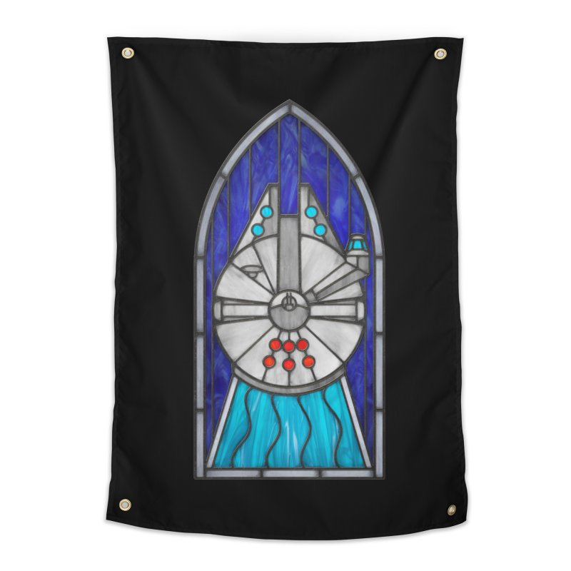Stained Glass Series - Millennium Falcon Home Tapestry by Ian Leino @ Threadless