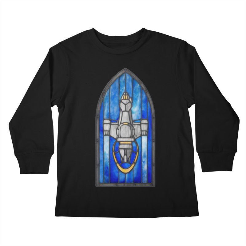 Stained Glass Series - Serenity Kids Longsleeve T-Shirt by Ian Leino @ Threadless