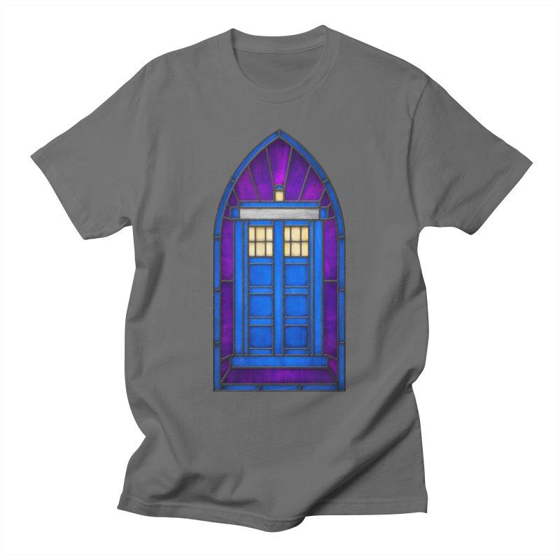Stained Glass Series - TARDIS Men's T-Shirt by Ian Leino @ Threadless