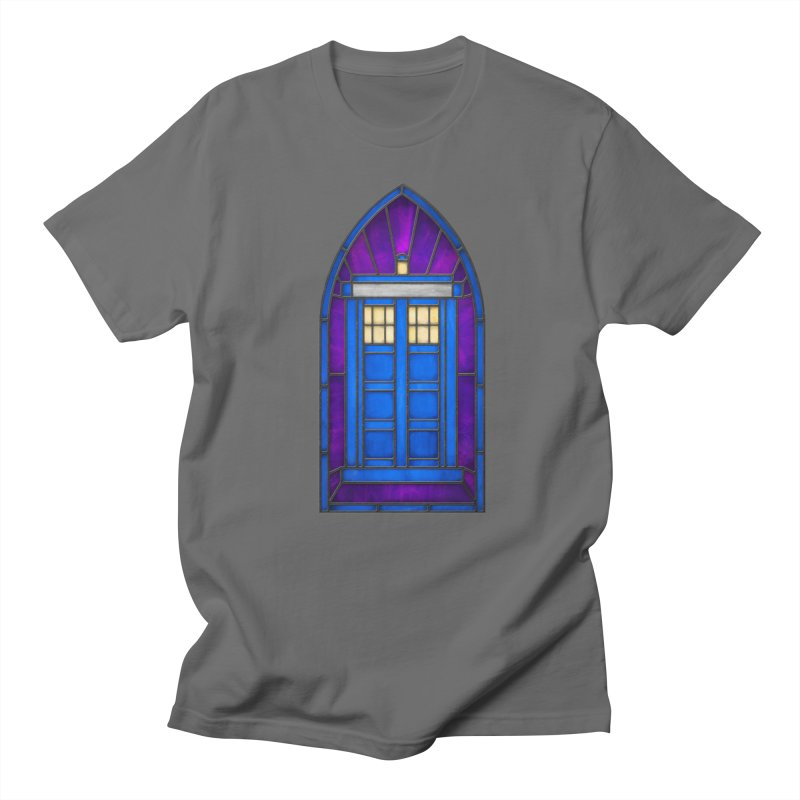 Stained Glass Series - TARDIS Men's T-Shirt by Ian Leino @ Threadless