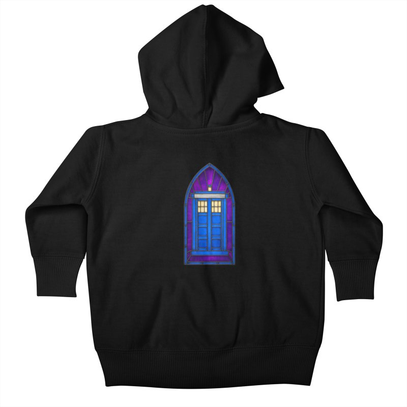 Stained Glass Series - TARDIS Kids Baby Zip-Up Hoody by Ian Leino @ Threadless