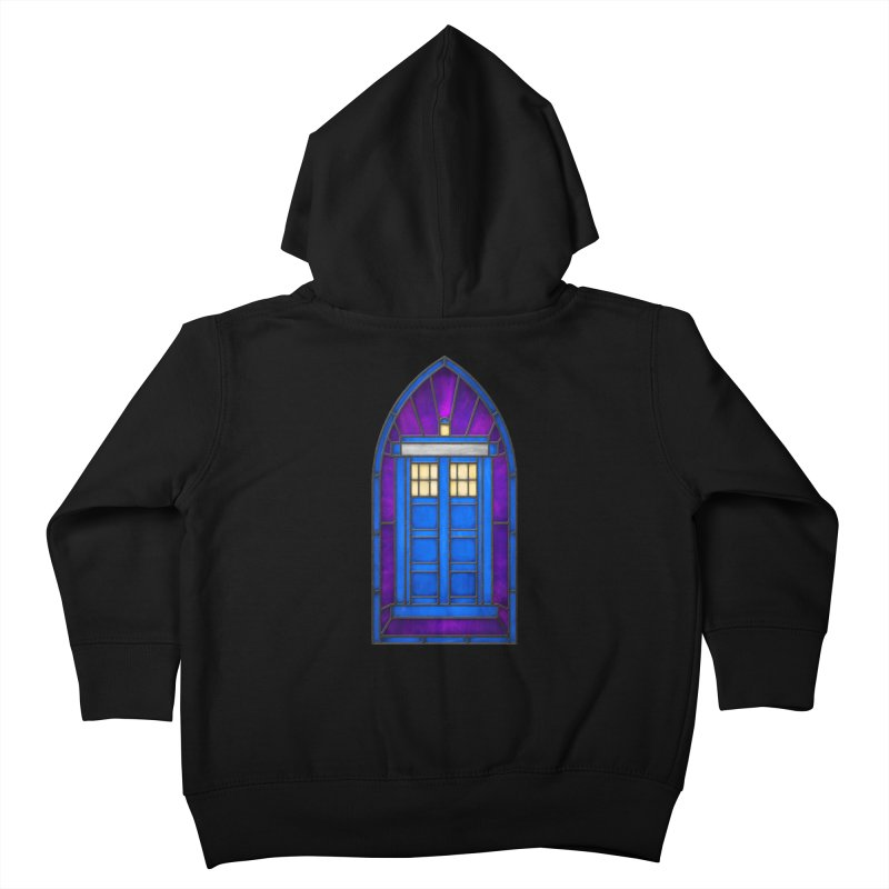 Stained Glass Series - TARDIS Kids Toddler Zip-Up Hoody by Ian Leino @ Threadless