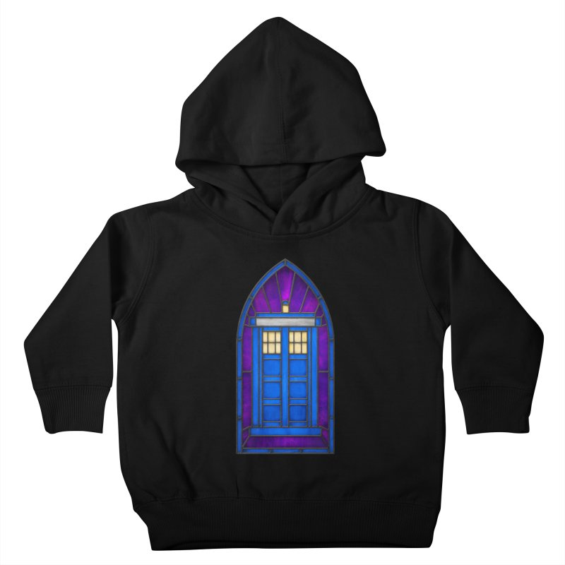 Stained Glass Series - TARDIS Kids Toddler Pullover Hoody by Ian Leino @ Threadless
