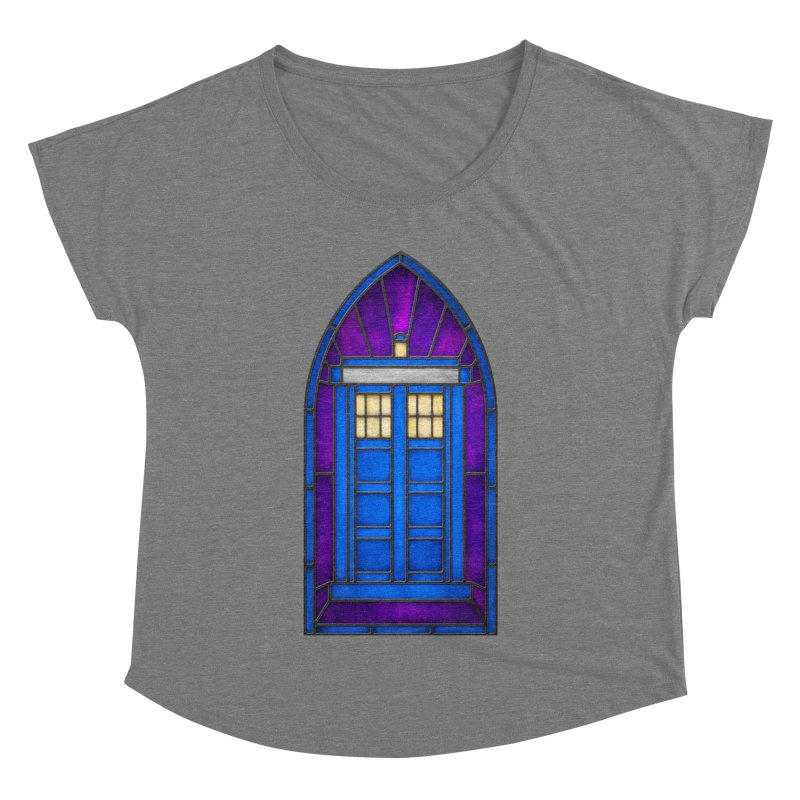 Stained Glass Series - TARDIS Women's Dolman Scoop Neck by Ian Leino @ Threadless