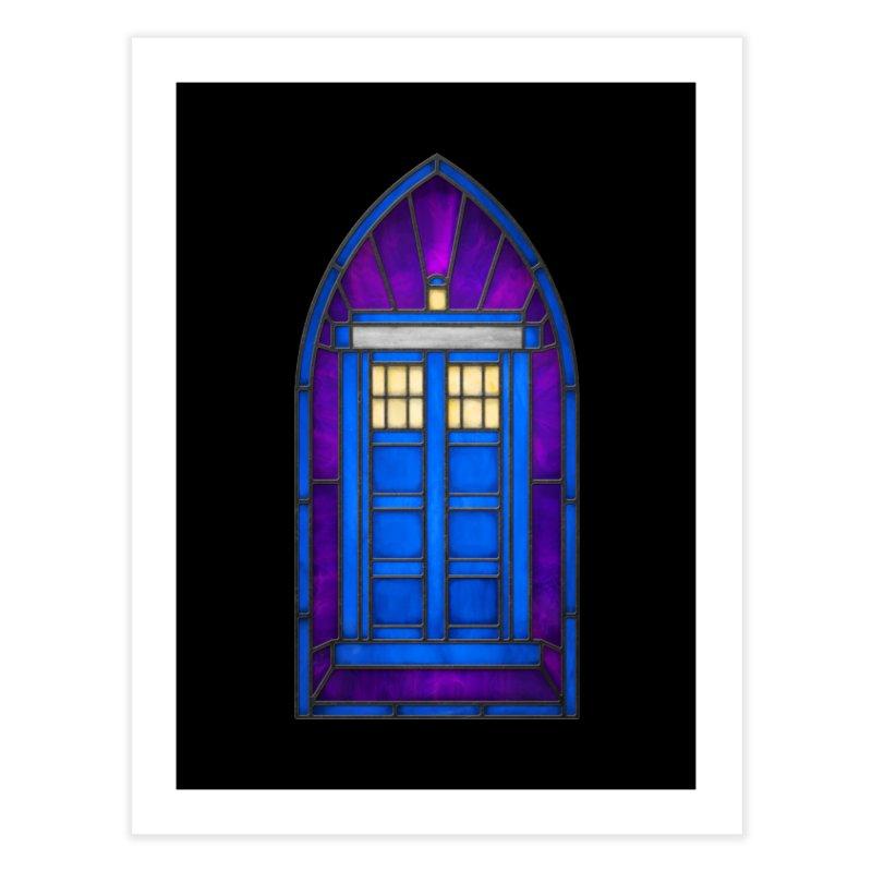 Stained Glass Series - TARDIS Home Fine Art Print by Ian Leino @ Threadless
