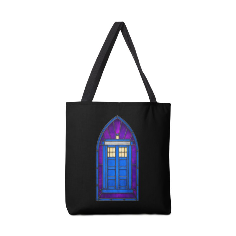 Stained Glass Series - TARDIS Accessories Bag by Ian Leino @ Threadless