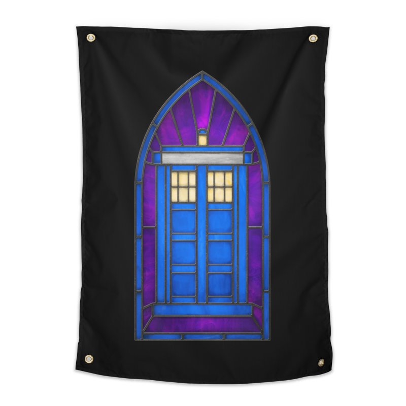 Stained Glass Series - TARDIS Home Tapestry by Ian Leino @ Threadless