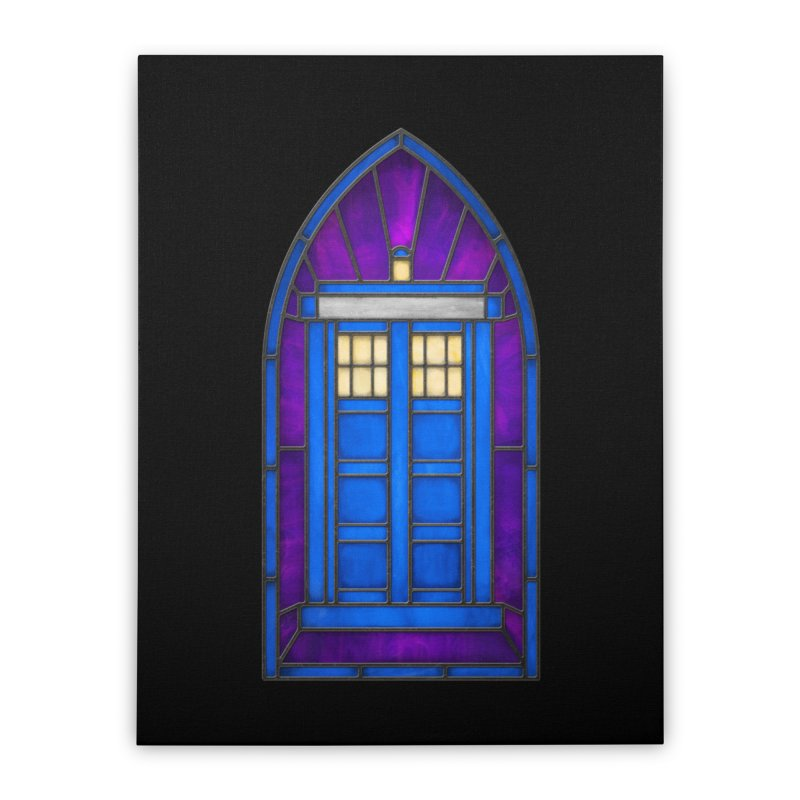 Stained Glass Series - TARDIS Home Stretched Canvas by Ian Leino @ Threadless