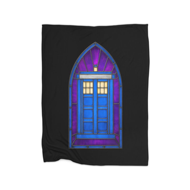 Stained Glass Series - TARDIS Home Blanket by Ian Leino @ Threadless