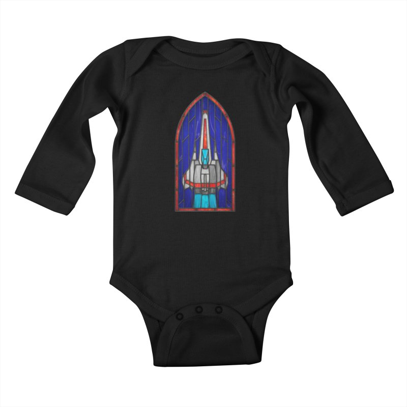 Stained Glass Series - Viper Kids Baby Longsleeve Bodysuit by Ian Leino @ Threadless