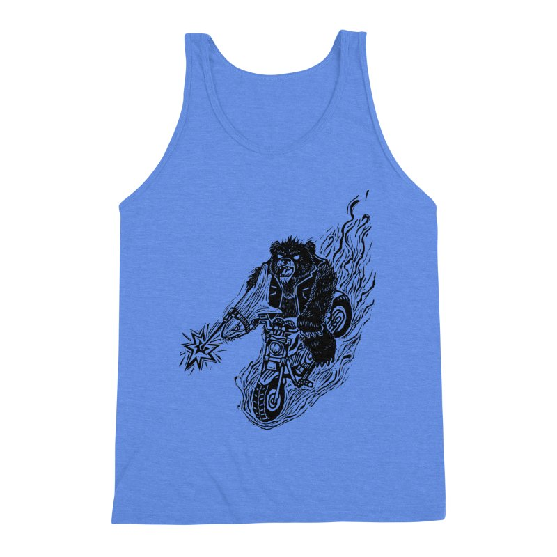 The Most Dangerous Animal in the World Men's Triblend Tank by Ian Leino @ Threadless