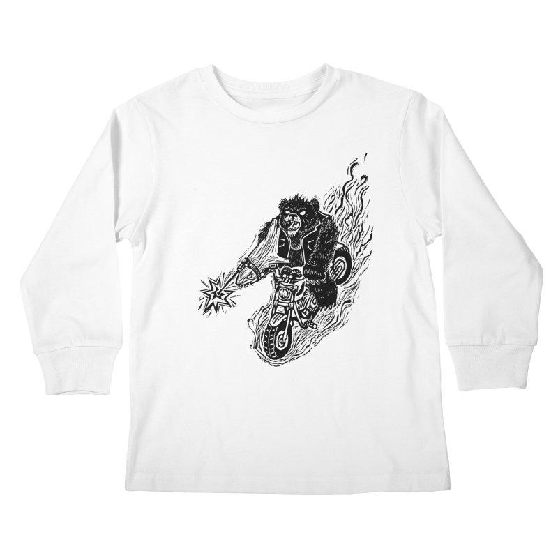 The Most Dangerous Animal in the World Kids Longsleeve T-Shirt by Ian Leino @ Threadless