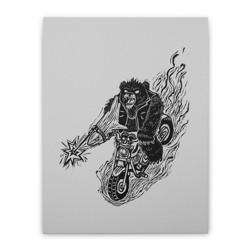 The Most Dangerous Animal in the World Home Stretched Canvas by Ian Leino @ Threadless