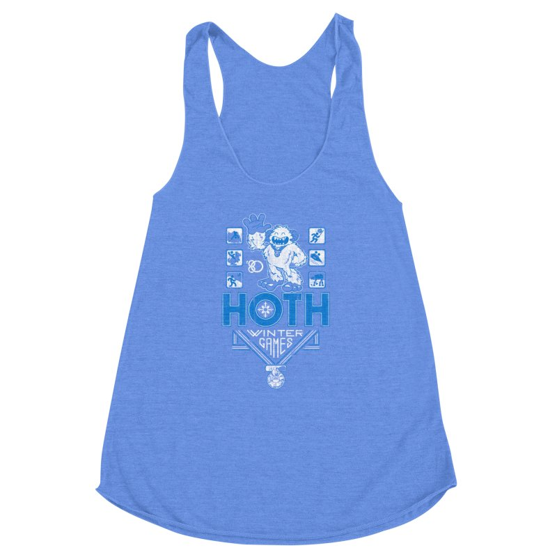 Hoth Winter Games Women's Racerback Triblend Tank by Ian Leino @ Threadless