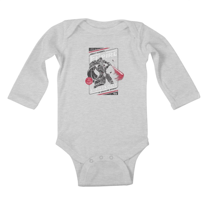 The Empire Strikes Out Kids Baby Longsleeve Bodysuit by Ian Leino @ Threadless