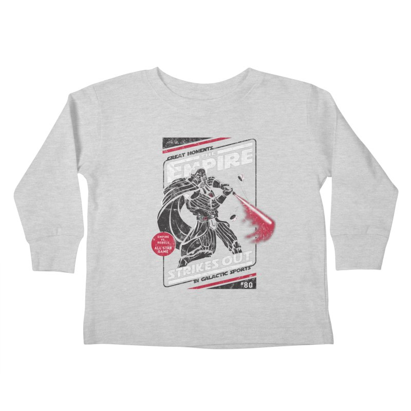 The Empire Strikes Out Kids Toddler Longsleeve T-Shirt by Ian Leino @ Threadless