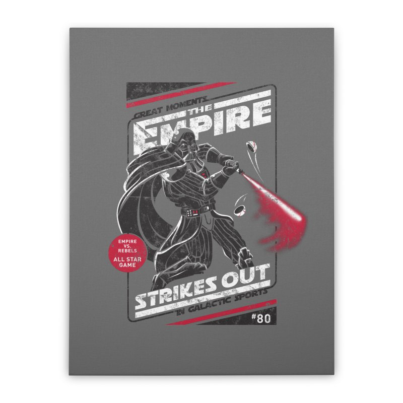 The Empire Strikes Out Home Stretched Canvas by Ian Leino @ Threadless